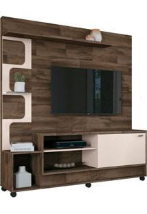 Estante Home Painel Para Tv Atã© 50 Pol. Palace Deck/Off White - Hb Mã³Veis - Marrom - Dafiti
