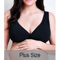 a72ef5b7b Sutiã Gestante Poá Em Tecido Duplo Mondress Maternity (8085E) Plus Size