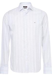 Camisa Aramis Reta Quadriculada Branca