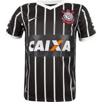 Camisa Nike Corinthians Infantil Ss Torcedor Preta 28399cc0d5091