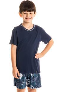 Pijama Clóvis Curto Infantil