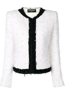 Balmain Jaqueta De Tweed - Branco