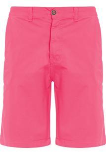 Bermuda Masculina Casual Fio Tinto - Rosa