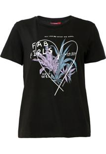 Camiseta Sommer Estampada Preta