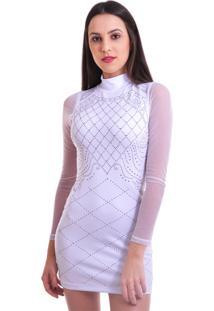 Vestido Curto Unyforme Termocolante Branco
