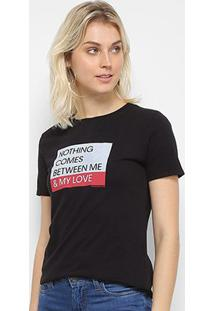 Camiseta Calvin Klein Ckj Mc Est Love Feminina - Feminino-Preto