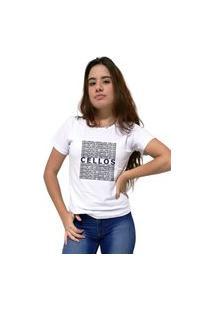 Camiseta Feminina Cellos Several Premium Branco