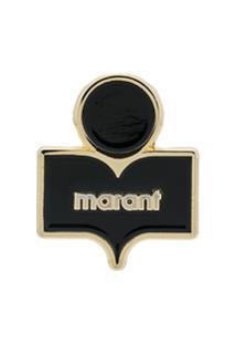 Isabel Marant Logo Enamel Pin - Preto