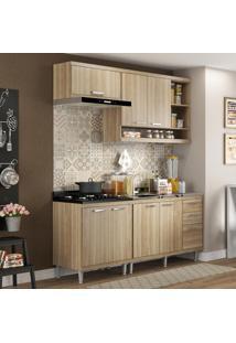 Cozinha Compacta Sicília 7 Portas Com Balcao Sem Pia Argila - Multimóveis