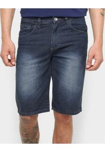 Bermuda Jeans Preston Básica Masculina - Masculino-Jeans