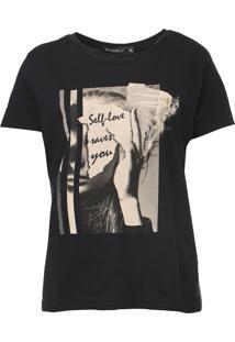 Camiseta Fiveblu Self Love Preta