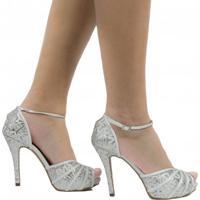 ef305f290 Sandália De Noivas Zariff Shoes Salto Alto