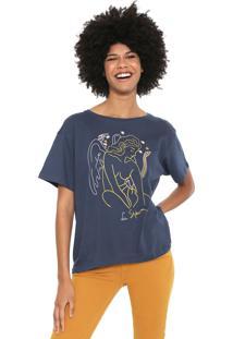 Camiseta Cantão Esfinge Azul-Marinho