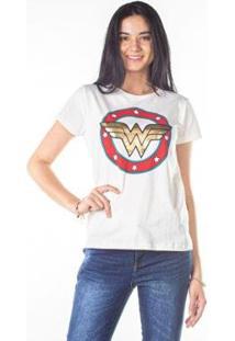 Camiseta Besni Mulher Maravilha Feminina - Feminino-Off White