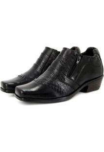 Sapato Vicarello Ziper Masculino - Masculino-Preto