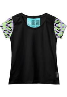 Camiseta Baby Look Feminina Algodão Estampa Moda Casual Leve - Feminino