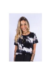 Camiseta Tie Dye Up Side Wear Preta