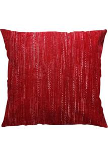 Capa Para Almofada Belize Texturizada- Vermelha & Brancaniazitex