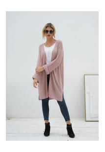 Cardigan De Lã Astana Feminino - Rosa