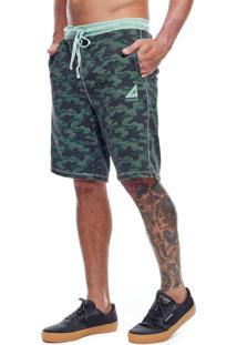 Bermuda De Moletom Masculina Concept Camo Mormaii Verde