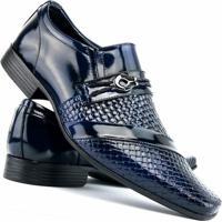 a55e23f701 Sapato Social Envernizado Venetto - Masculino-Azul