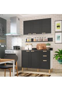 Cozinha Compacta Nevada Ii 5 Pt 3 Gv Grafite E Branca