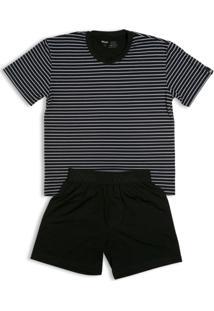 Conj. Pijama Modal Curto Infantil - Masculino