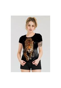 Camiseta Stompy Estampada Feminina Modelo 33 Preta