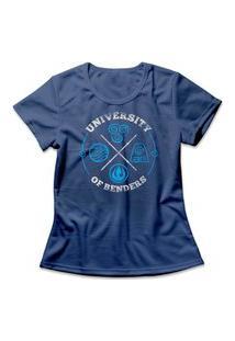 Camiseta Feminina Avatar University Of Benders Azul