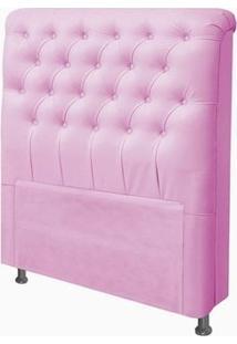 Cabeceira Para Cama Box Solteiro 90 Cm Paris Corino Rosa - Js Móveis