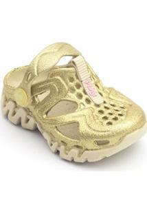 Babuche Bebê Reax Glitter Plugt Feminino - Feminino-Dourado