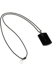 Colar Key Design Dawn Inox - Preto