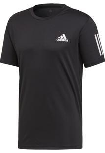 Camiseta E Regatas Esporte Tênis Adidas 3 Stripes Preta