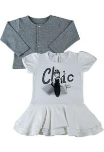 Vestido Infantil Cotton Chic - Natural 1