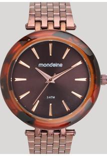 Relógio Analógico Mondaine Feminino - 76559Lpmvme5 Marrom - Único