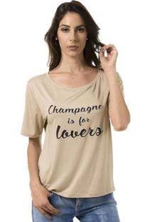Camiseta Bloom Champagne Is For Lovers Feminina - Feminino