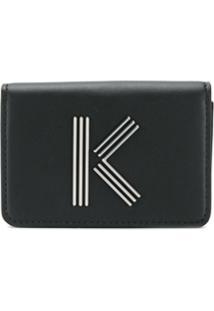 Kenzo Porta-Moedas K-Bag De Couro - Preto