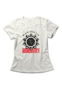 Camiseta Feminina Soundgarden Black Hole Sun Off-White