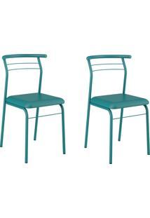 Kit 2 Cadeiras 1708 Turquesa - Carraro Móveis