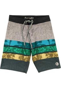 Bermuda Boardshort Wss Strech Hawaii Color 20 Masculina - Masculino-Cinza