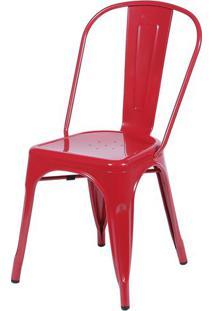Cadeira Iron Vermelha - 24865 - Sun House