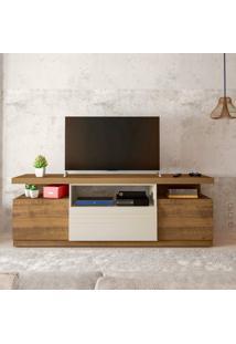 Rack Para Tv Até 55 Polegadas 3 Portas Munique Artely Pinho/Off White