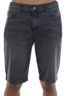 Bermuda Jeans Dc Shoes Walk Washed Preta - Black / 36
