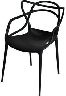 Cadeira Master Allegra Polipropileno Preta - 21397 - Sun House