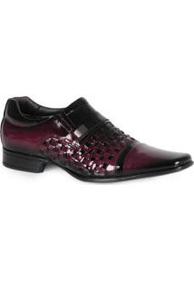 Sapato Social Verniz Roxo