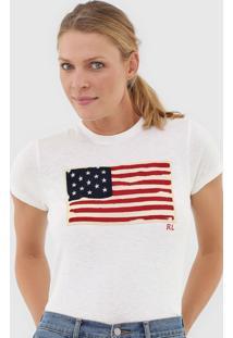 Camiseta Polo Ralph Lauren Bandeira Off-White - Kanui
