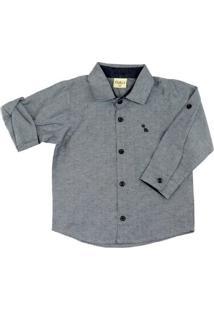 Camisa Infantil Kidin´S Masculino - Masculino-Cinza
