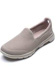 Slipper Skechers Go Walk 5 Bege - Kanui
