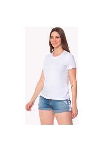 T-Shirt Daniela Cristina Basic Gola Redonda 602Dc10396 Branca