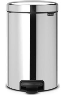 Lixeira New Icon- Inox & Preta- 12L- Spicym.Cassab